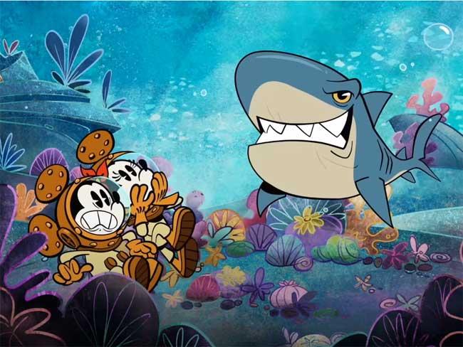 Aquamouse Mickey Animated Short Disney Wish Disney Cruise LIne