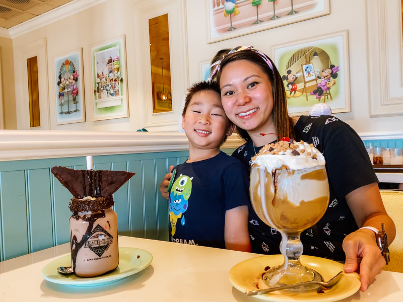 WDW Magazine Reporter Tina Chiu with her son Colten at Beaches and Cream at Disney's Beach Club Resort