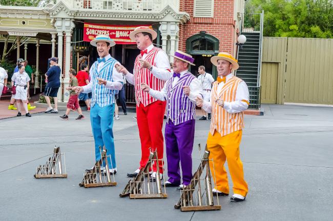 The Dapper Dans performing for guests at Disney's Magic Kingdom