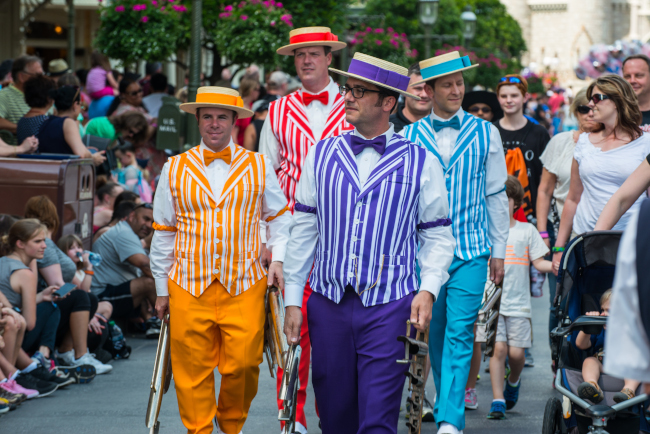 The Dapper Dans preparing for another performance at Disney's Magic Kingdom