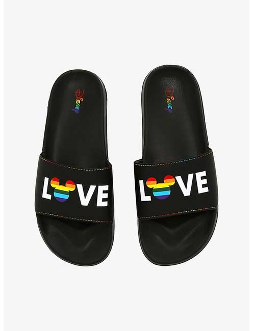 Disney-Mickey-Pride-Rainbow-Love-Slides-sandals_Disney-Parks-Blog