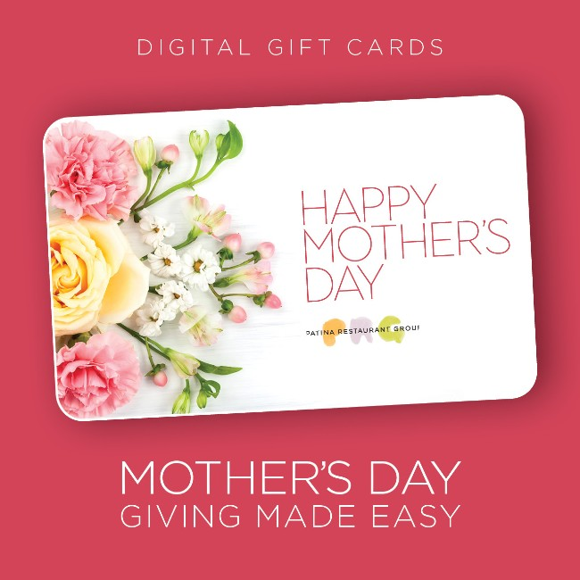 mother's day gift card for patina restaurant group at disney springs