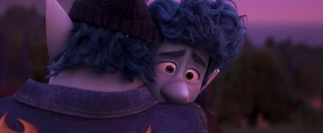 PIXAR - Ian and Barley hug