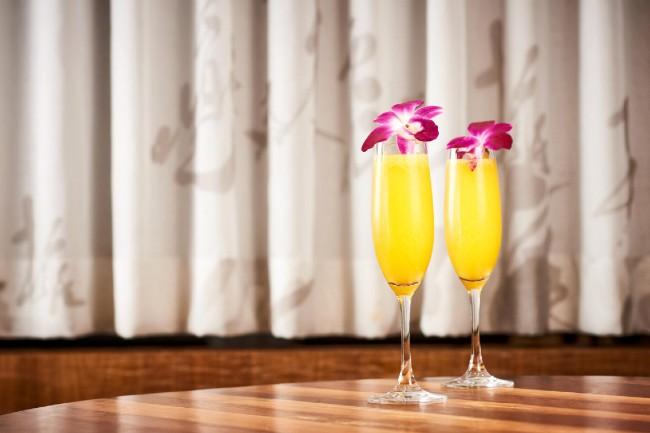 passionfruit mimosa at morimoto asia in disney springs