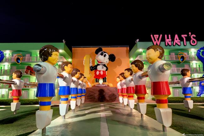 Giant foosball players at Disney's Pop Century Resort