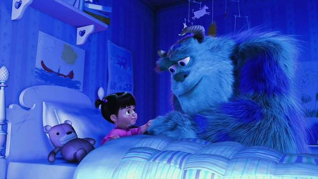 Sully and Boo say bye - PIXAR