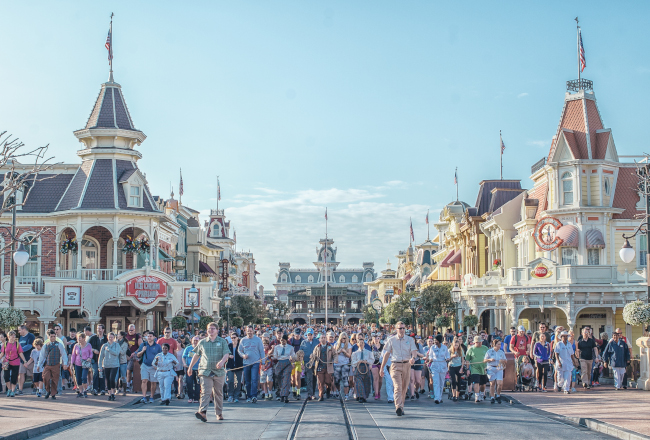A rope drop ceremony begins another magical day at Disney's Magic Kingdom