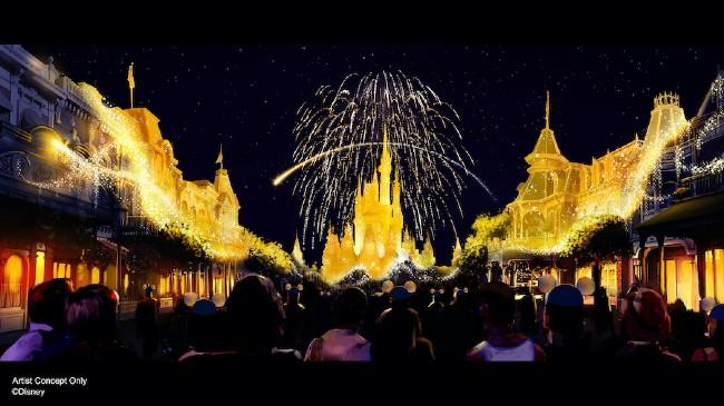 disney enchantment at magic kingdom for 50th
