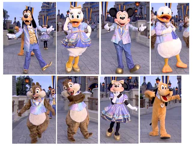 Disney World Magic Kingdom 50th Anniversary Character Costumes Outfit