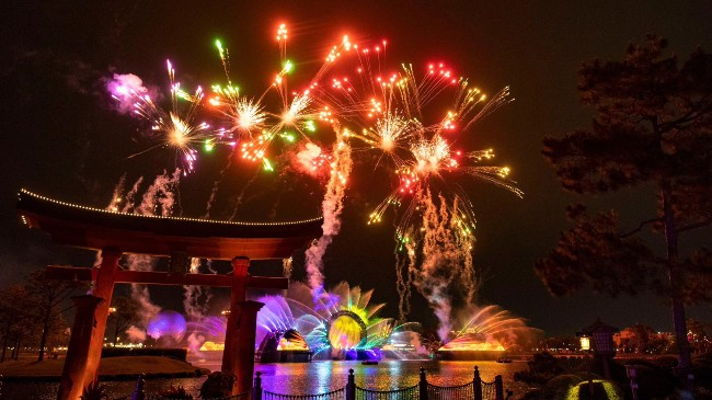harmonious fireworks at epcot