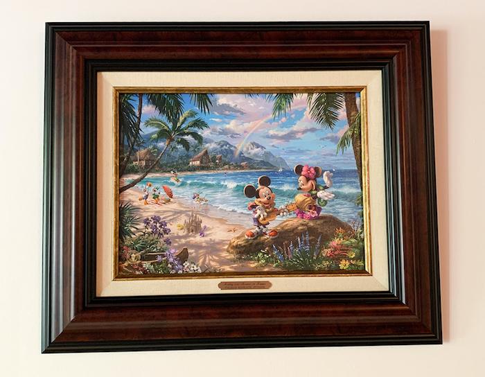 Mickey and Minnie in Hawaii by Thomas Kinkade