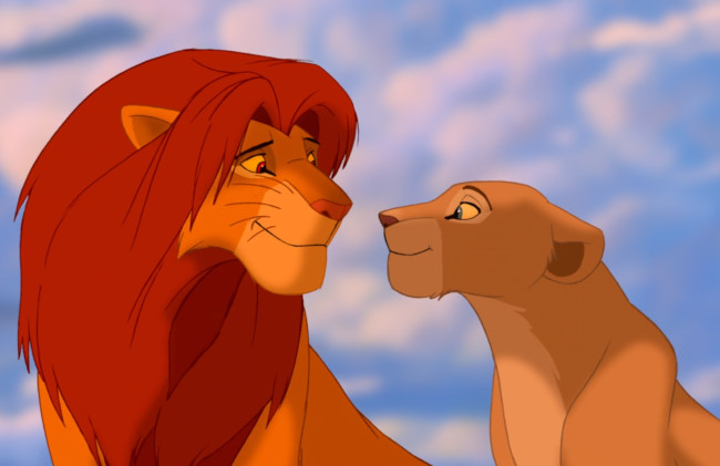 Nala and Simba in The Lion King - disney animation eras - the renaissance - disney animated classics