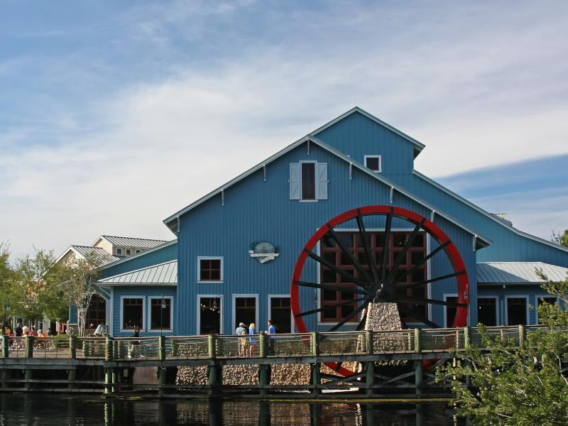 The watermill at Disney's Riverside Resort