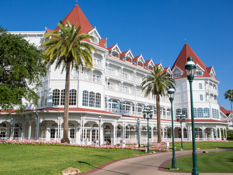 The exterior of Disney's Grand Floridian Resort and Spa