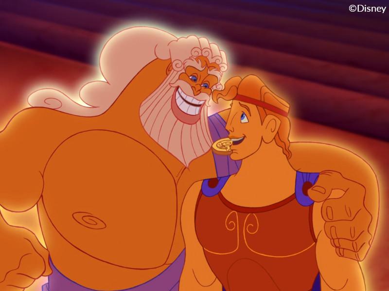 Zeus with his son, Hercules