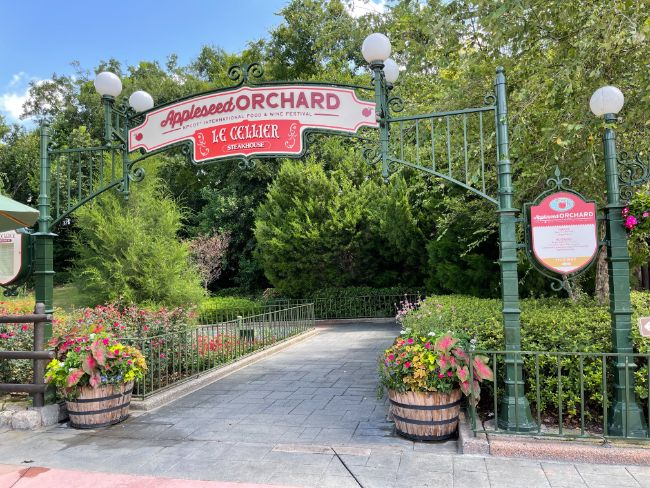 2021-EPCOT-Food-and-Wine-Festival_Appleseed-Orchard-Entrance_Tina-Chiu