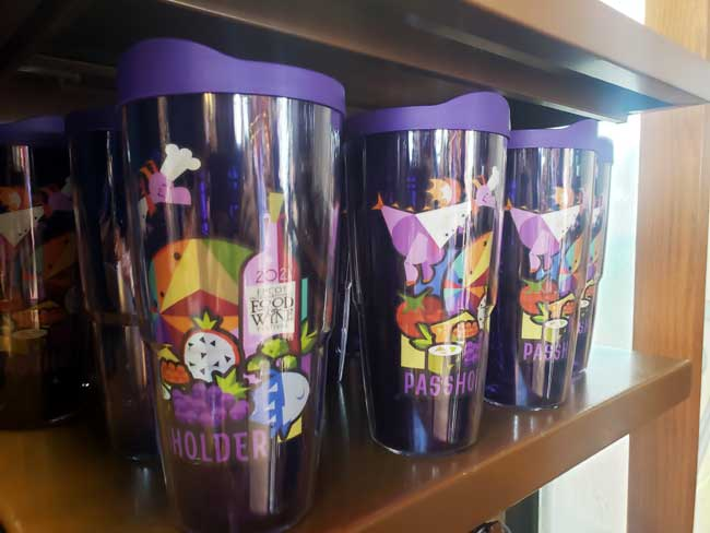 2021-EPCOT-Food-and-Wine-Festival_Merch_Passholder-Figment-Cups_Blanken