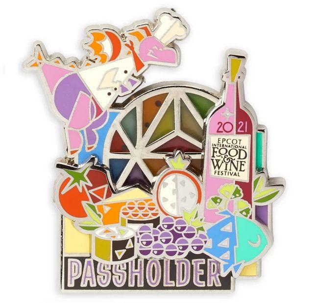 2021 EPCOT Food and Wine Passholder-Merch_Figment-Passholder-Pin