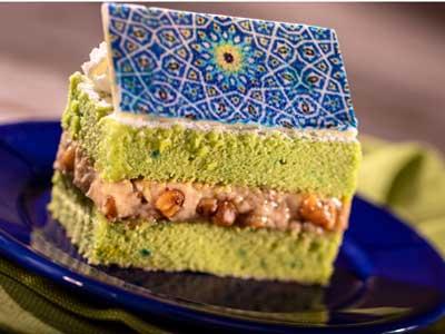 2021-Tangierine-Cafe-Morocco-Pistachio Cake-EPCOT-Food-and-Wine-Disney-Parks-Blog