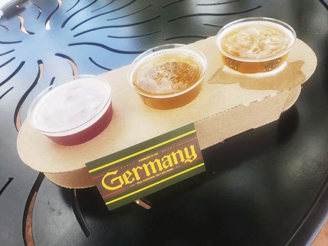 2021_EPCOT_Food-and-Wine-Festival_Germany-Menu_Beer-Flight_Rain-Blanken
