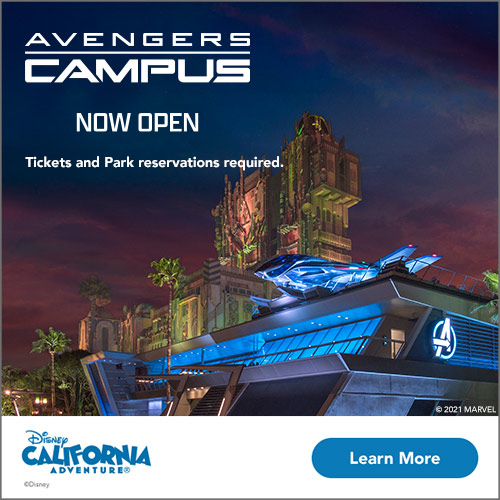 Come see Avengers Campus, open NOW!