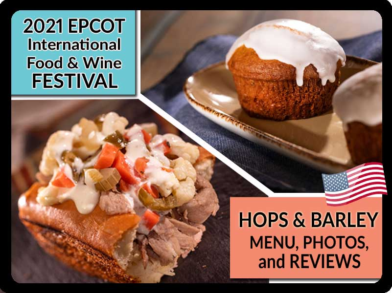 2021 Hops and Barley Booth Menu at EPCOT Food & Wine Festival