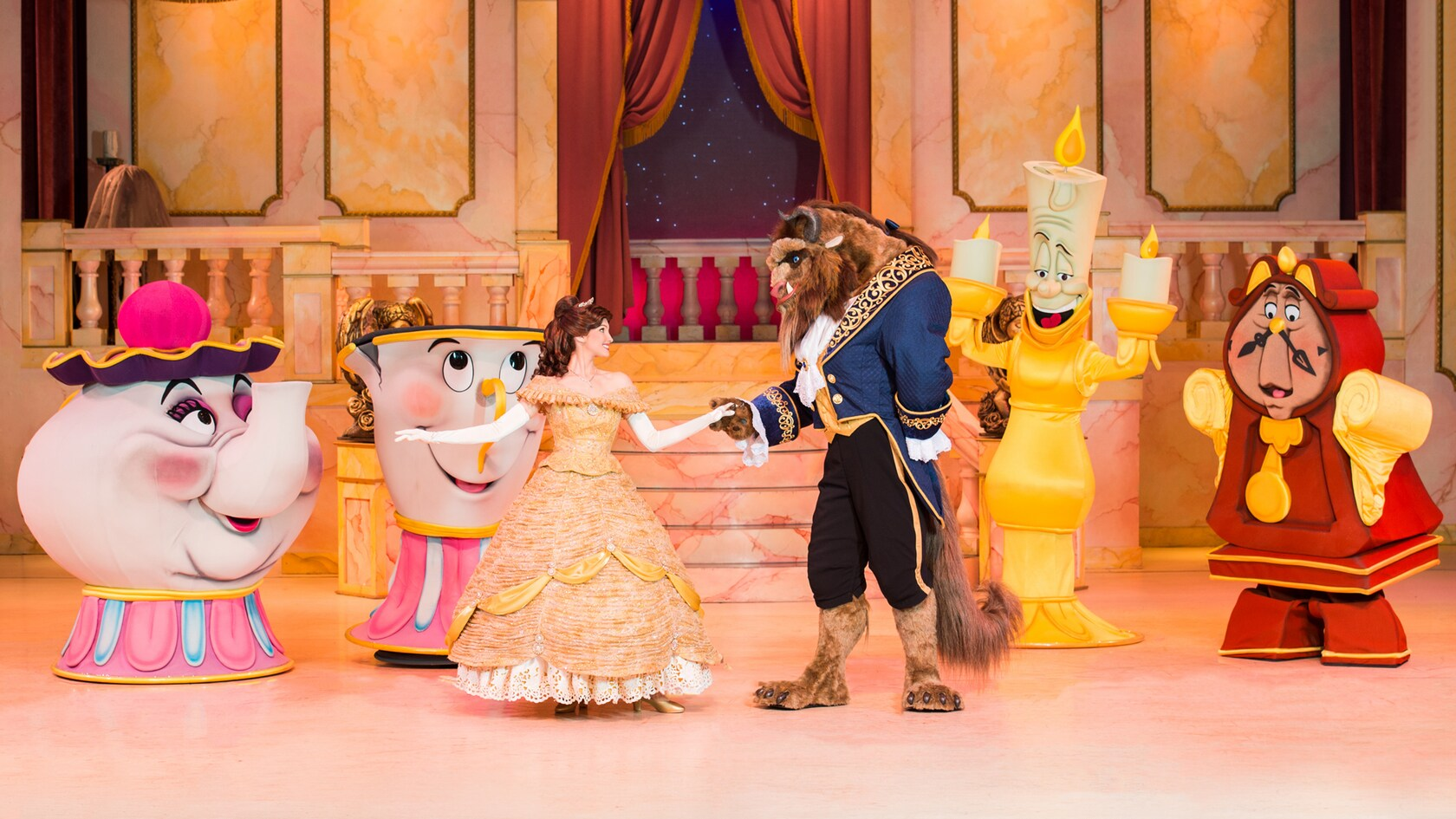 beauty and the beast live on stage reopening