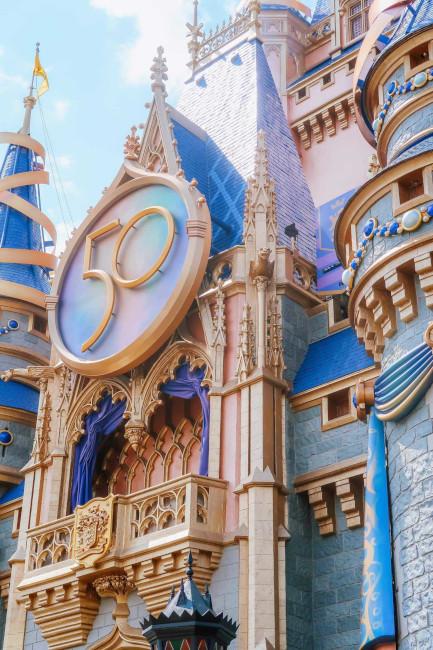 cinderella castle 50th anniversary