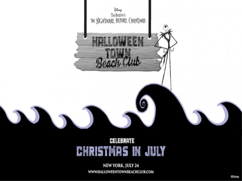 halloween town beach club christmas in july