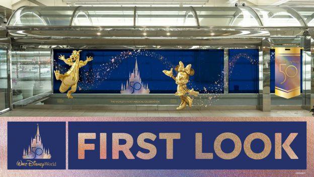Orlando International Airport Arrival - Disney 50th anniversary