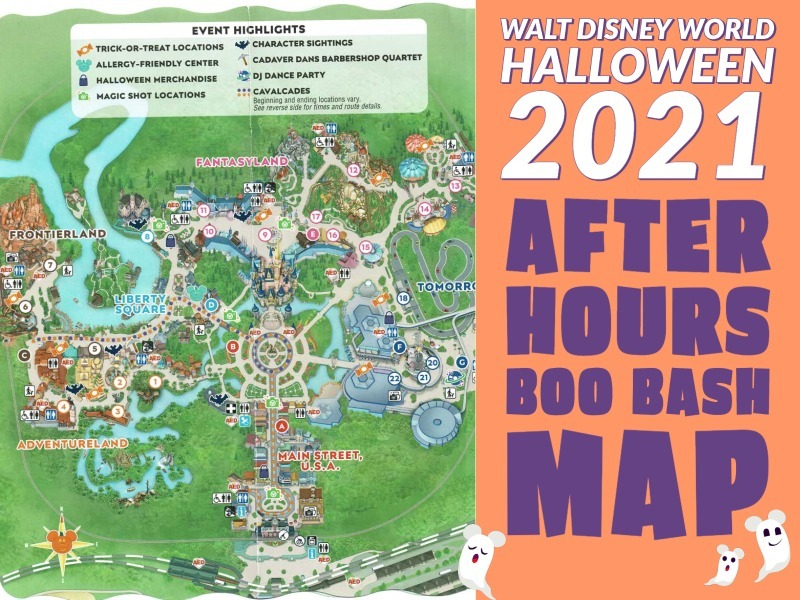 2021 After Hours Boo Bash Map – Halloween at Magic Kingdom