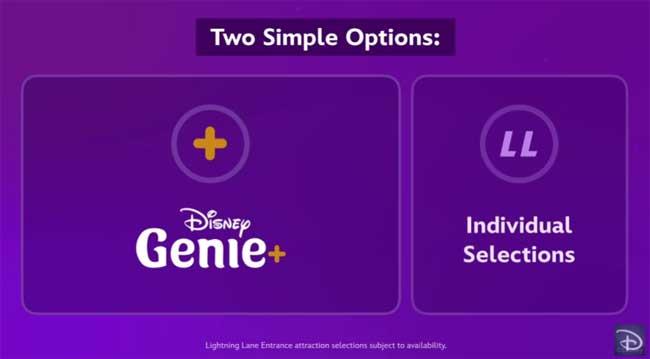 Lightning Lane Individual Selections Disney Genie+ Service_DPB