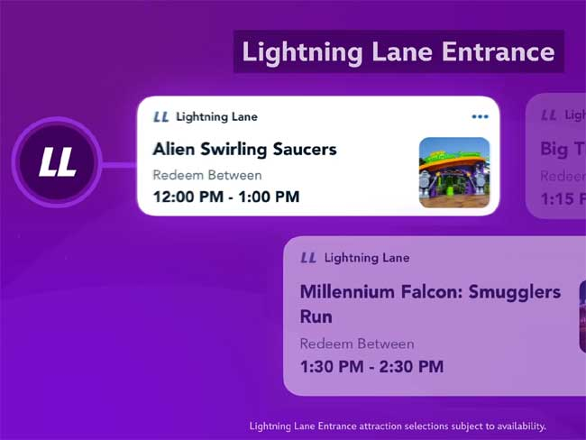 Lightning Lane Selections in Disney Genie+ Service_DPB