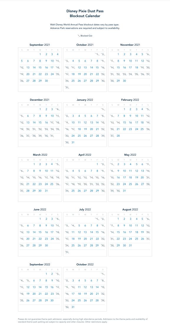 disney-pixie-dust-pass-blockout-calendar_2021-disney-world-annual-pass_disney