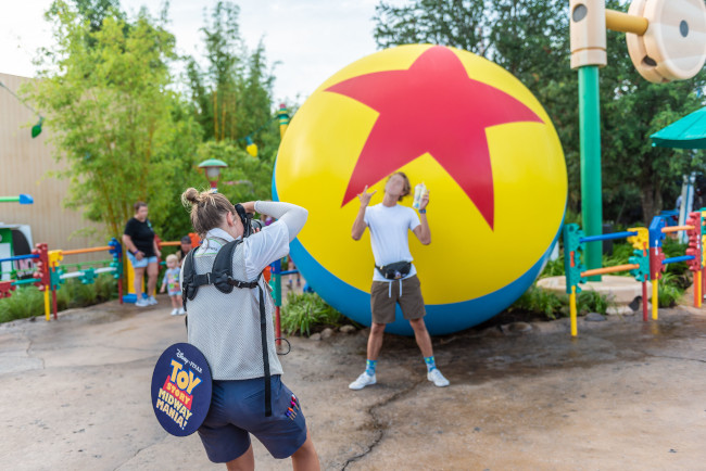 luxo ball at toy story land in disney's hollywood studios