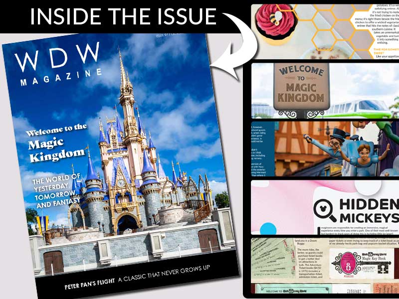 History of Magic Kingdom Magazine WDW October 2021 Issue Preview