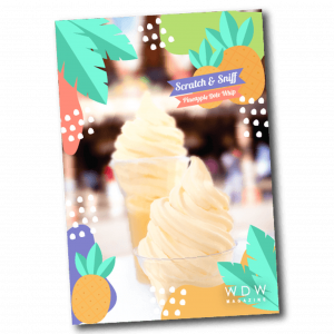 dole whip scratch and sniff card - wdw magazine