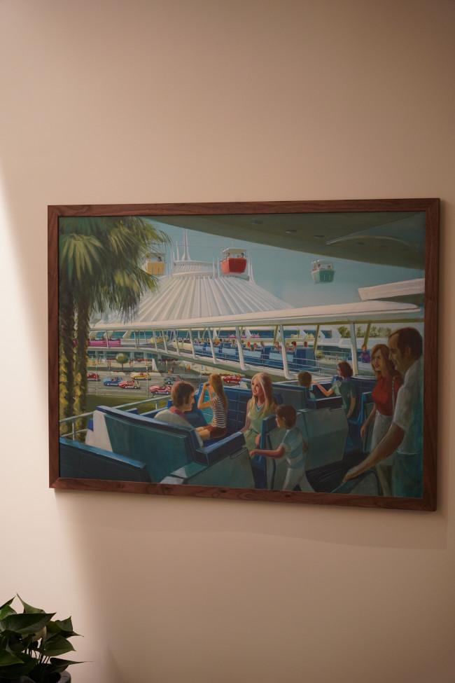 tomorrowland speedway artwork inside steakhouse 71