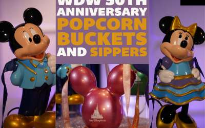Walt Disney World 50th Anniversary Popcorn Buckets and Sippers: First Look