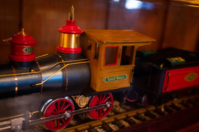 The Lilly Belle, a 1/8th scale locomotive once operated by Walt Disney