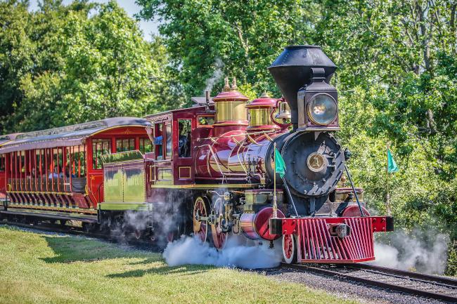 One of the trains on Walt Disney World Railroad