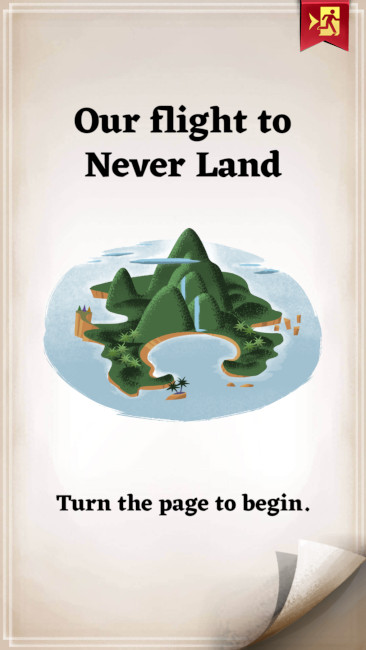 Our Flight to Never Land mobile game