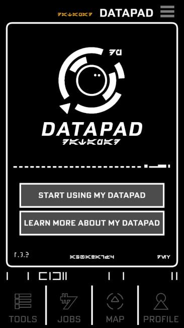 Star Wars: Datapad from the Play Disney Parks app
