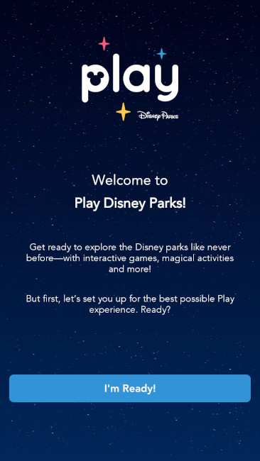 Play Disney Parks Welcome Screen