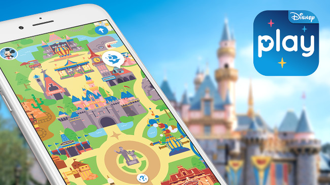 The Play Disney Parks app displaying on an iPhone