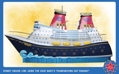 Disney Wish to Make a Splash at 2021 Macy's Thanksgiving Day Parade