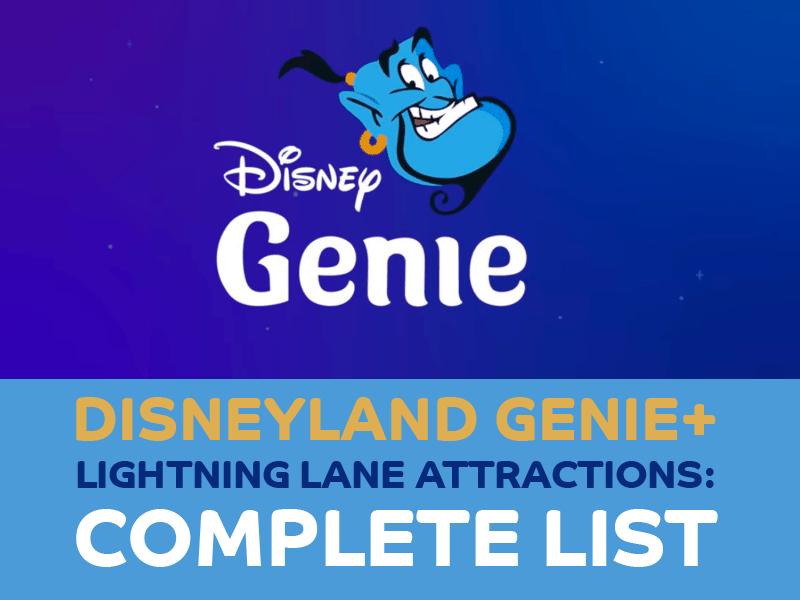 Here's the Full List of Disneyland Genie+ Lightning Lane Attractions