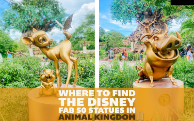 Where to Find All the Disney Fab 50 Statues in Animal Kingdom: A Detailed Guide