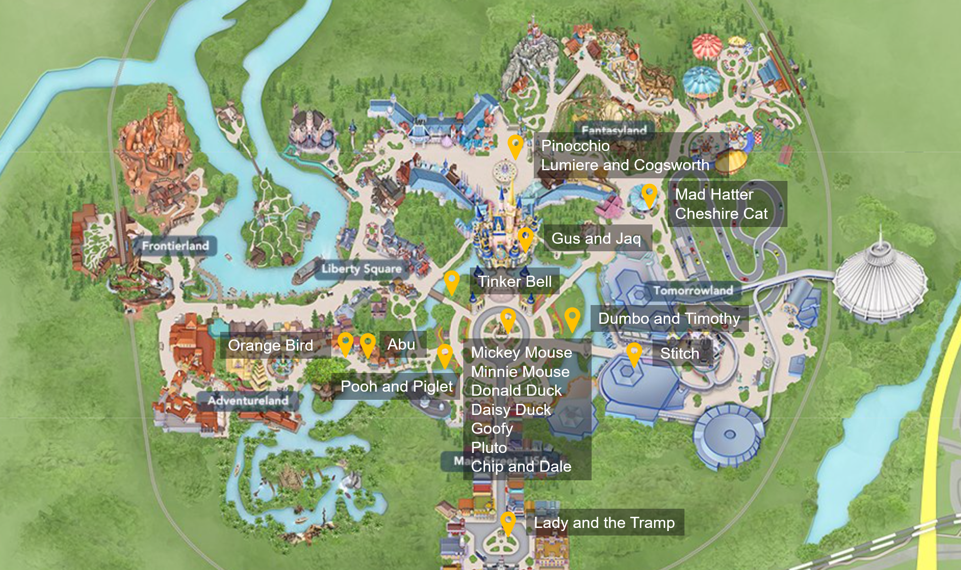 where-to-find-disney-fab-50-statues-in-magic-kingdom_map